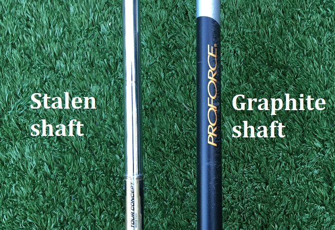 Golfclubs-stalen shaft-graphite shaft