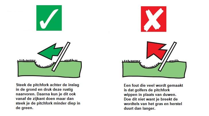 pitchmark repareren