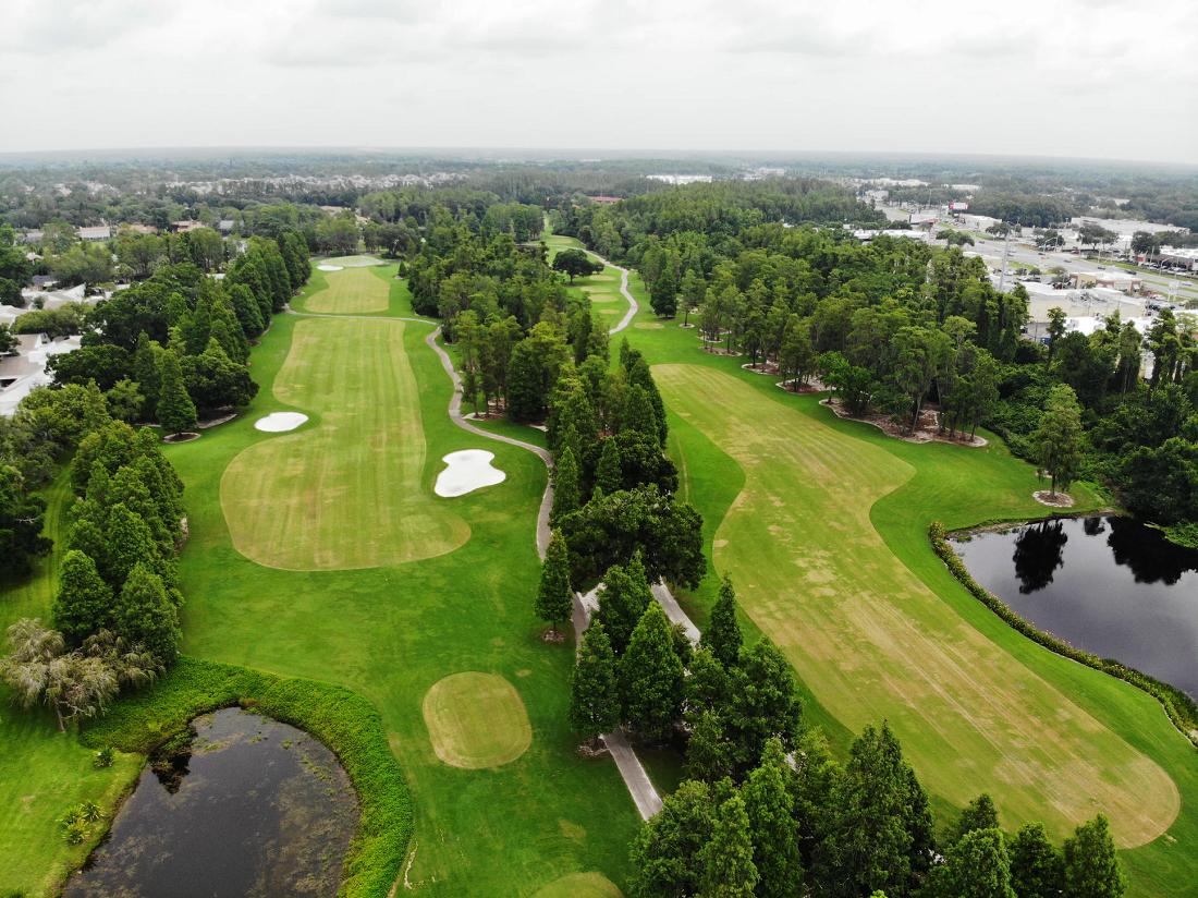 golfbaan plattegrond holes